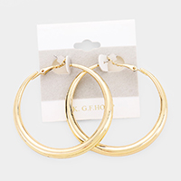 14K Gold Filled Metal Hoop Earrings