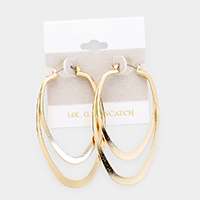 14K Gold Filled Metal Pin Catch Earrings