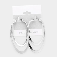 14K White Gold Filled Metal Pin Catch Earrings
