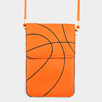 Basketball Pattern Touch View Cell Phone Cross Bag