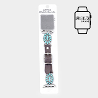 Embossed Teardrop Turquoise Apple Watch Band