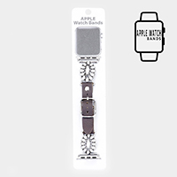 Triple Strand Howlite Bead Apple Watch Band