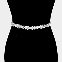 Crystal Marquise Sash Ribbon Bridal Wedding Belt / Headband