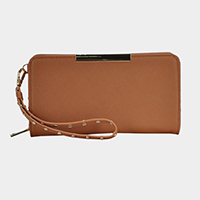Faux Leather Zipper Wallet