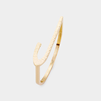 'J' Monogram Brass Metal Ring