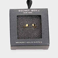 Secret Box _ 14k Gold Dipped Double Cube Cuff Ring