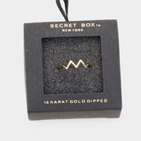 Secret Box _ 14k Gold Dipped Zig Zag Cuff Ring