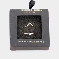 Secret Box _ 2PCS 14k Gold Dipped Triangle Cuff Ring