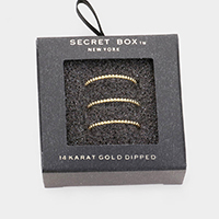 Secret Box _ 3PCS 14k Gold Dipped Cuff Ring
