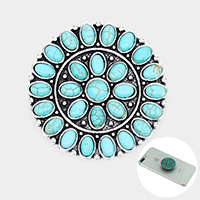 Tribal Turquoise Cluster Self Adhesive Charm for Phone Holder