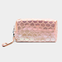 Mermaid Skin Metallic Pouch Bag