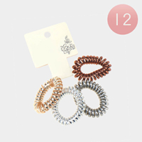 12 Set Of 4 - Telephone Wire Hair Bands