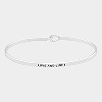 'Love And Light' Brass Thin Metal Hook Bracelet