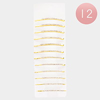 12PCS - Crystal Pave Hair Bobby Pins