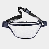 Color Block Transparent Fanny Pack