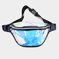 Color Block Hologram Fanny Pack