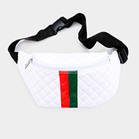 Color Block Quilted Fanny Pack