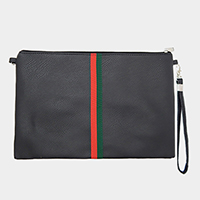 Color Block Faux Leather Crossbody Bag