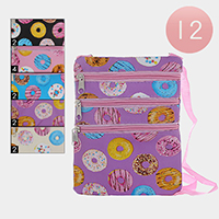 12PCS - Donuts Pattern Crossbody Bags