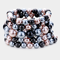 5PCS -  Pearl Stretch Bracelets