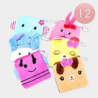 12PCS - Cute Animal Rectangle Coin Purses