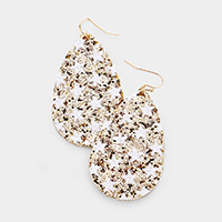 Glitter Star Teardrop Earrings