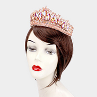 Crystal Marquise Accented Leaf Pageant Queen Tiara