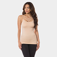 Seamless Triple Criss-Cross Front Cami Tank Top