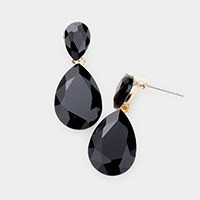 Teardrop Crystal Drop Evening Earrings