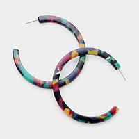 Celluloid Acetate Open Hoop Earrings
