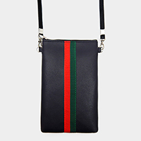 Color Block Touch View Cell Phone Crossbody Bag