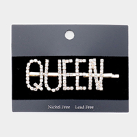 'Queen' Crystal Pave Hair Bobby Pin