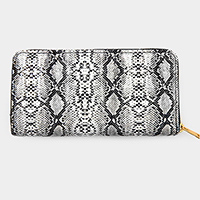 Snake Skin Pattern Zipper Wallet