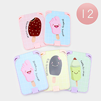 12PCS - Rectangle Comb Compact Mirror Sets