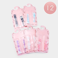 12Pairs - Assorted Pattern Silicone Adjustable Bra Straps