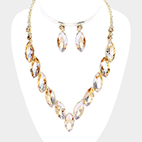 Crystal Marquise Evening Necklace