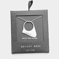 Secret Box _ White Gold Dipped 'Hope' Pendant Necklace