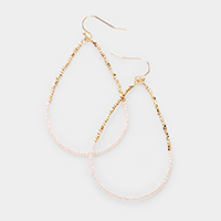 Beaded Open Teardrop Dangle Earrings