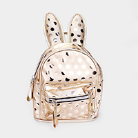 Polkadot Cute Bunny Ears Mini Backpack Bag