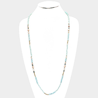 Multi Beaded Long Necklace