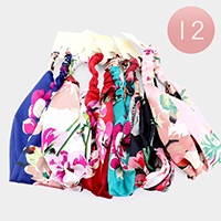 12PCS - Floral Pattern Stretch Headbands