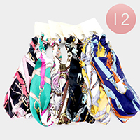 12PCS - Belt Pattern Stretch Headbands