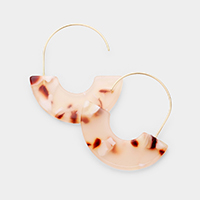 Celluloid Acetate Half Open Circle Earrings