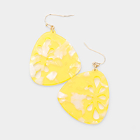 Celluloid Acetate Lemon Dangle Earrings
