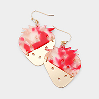 Celluloid Acetate Strawberry Dangle Earrings