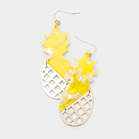 Celluloid Acetate Pineapple Dangle Earrings