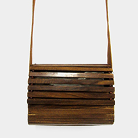 Wood Crossbody Bag