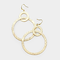 Double Metal Hoop Link Earrings