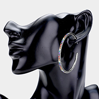 Colorful Rhinestone Hoop Earrings