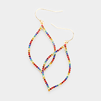 Colorful Rhinestone Moroccan Shaped Earrings
